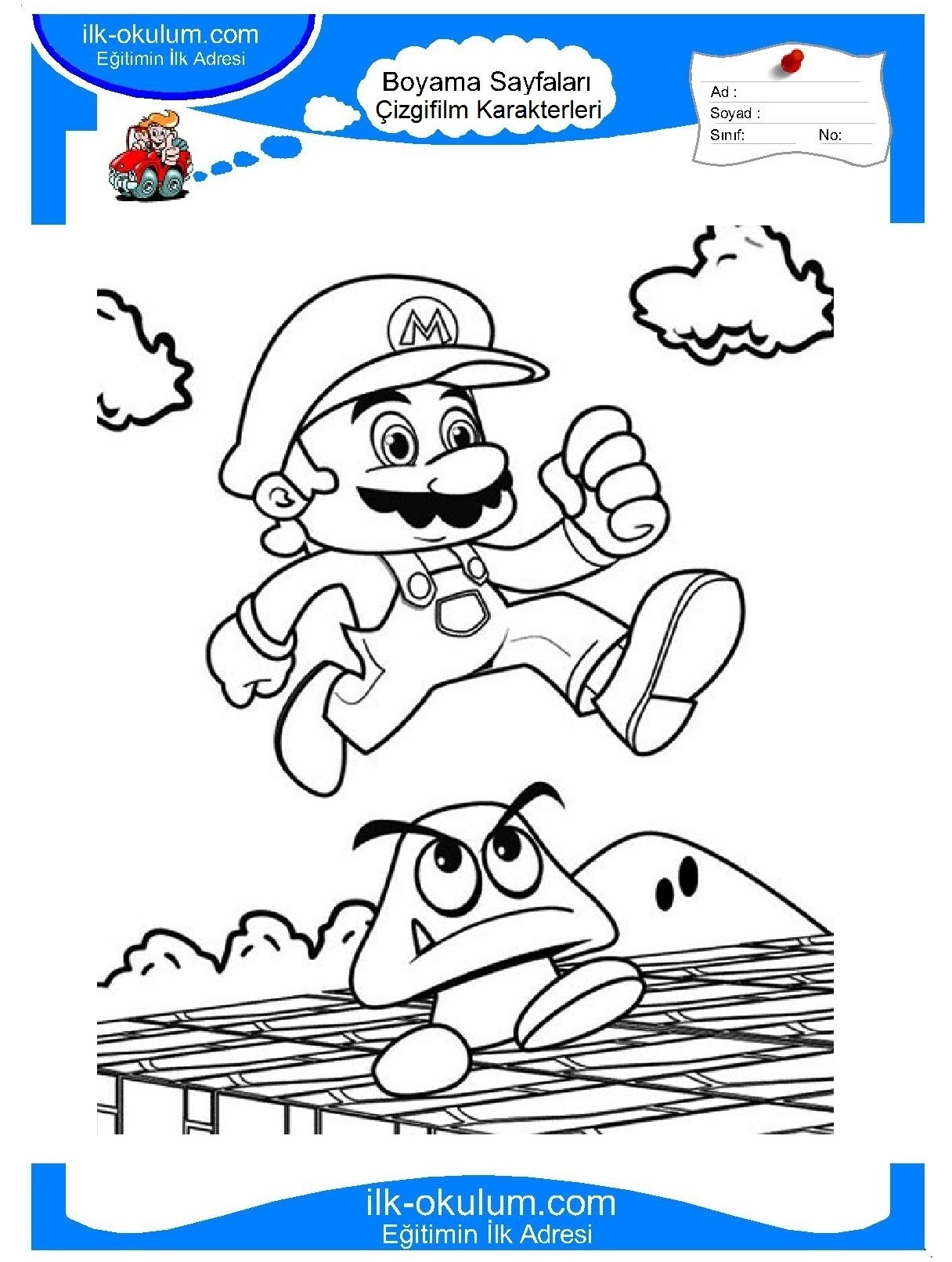 Free mario pictures to print Party for the Pine