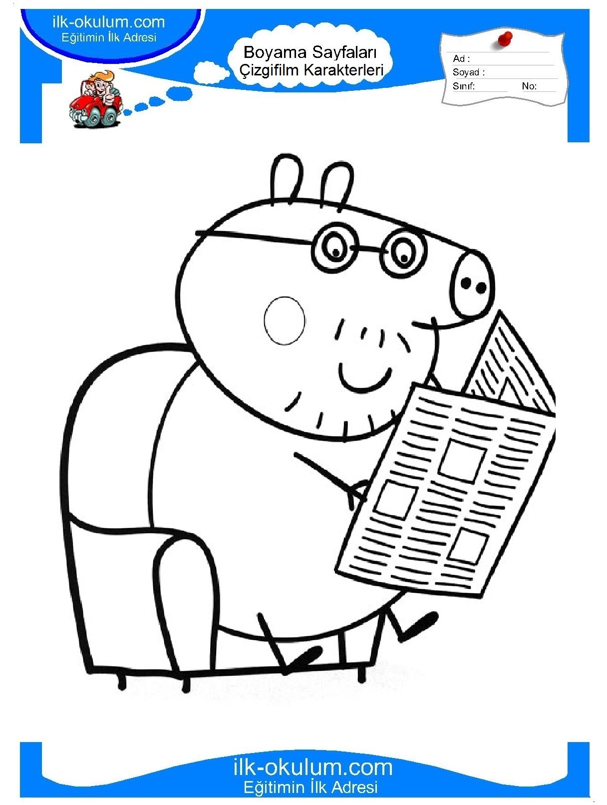 Peppa Pig coloring pages on ColoringBookinfo