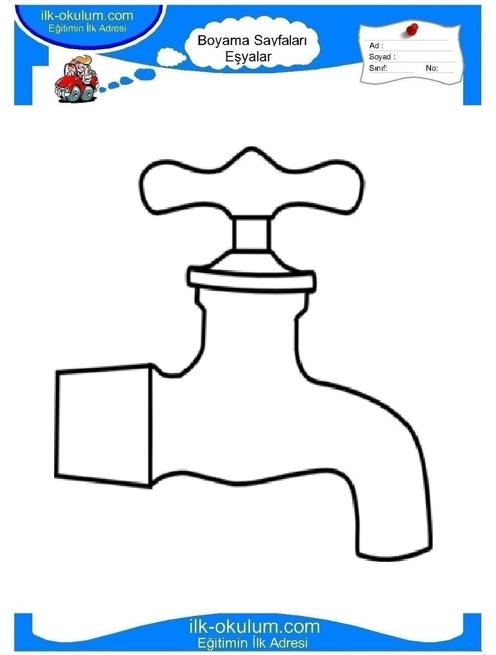 Tap coloring page