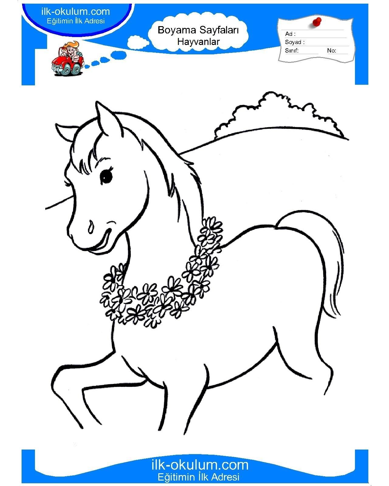 Раскраска для детей онлайн лошадки