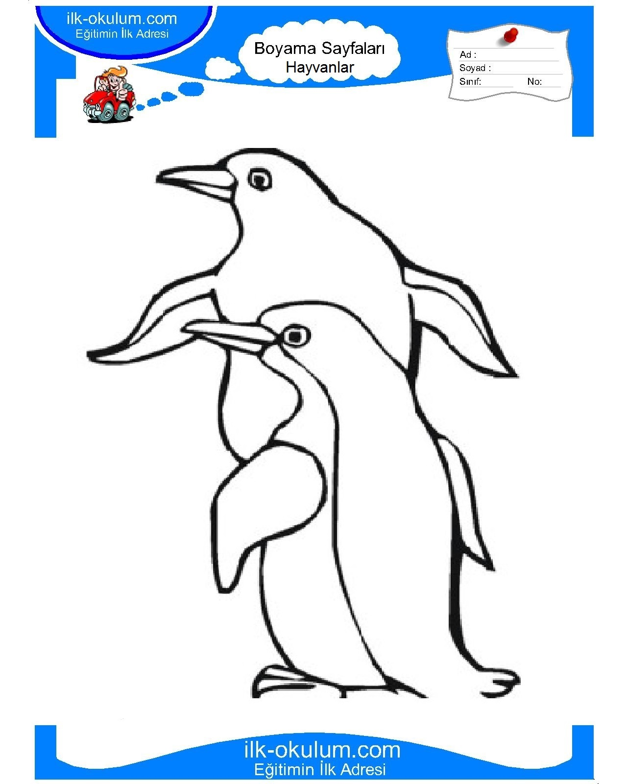 Penguin Coloring Pages - Free Printable for Kids Pinterest Coloring pictures of penguins for kids