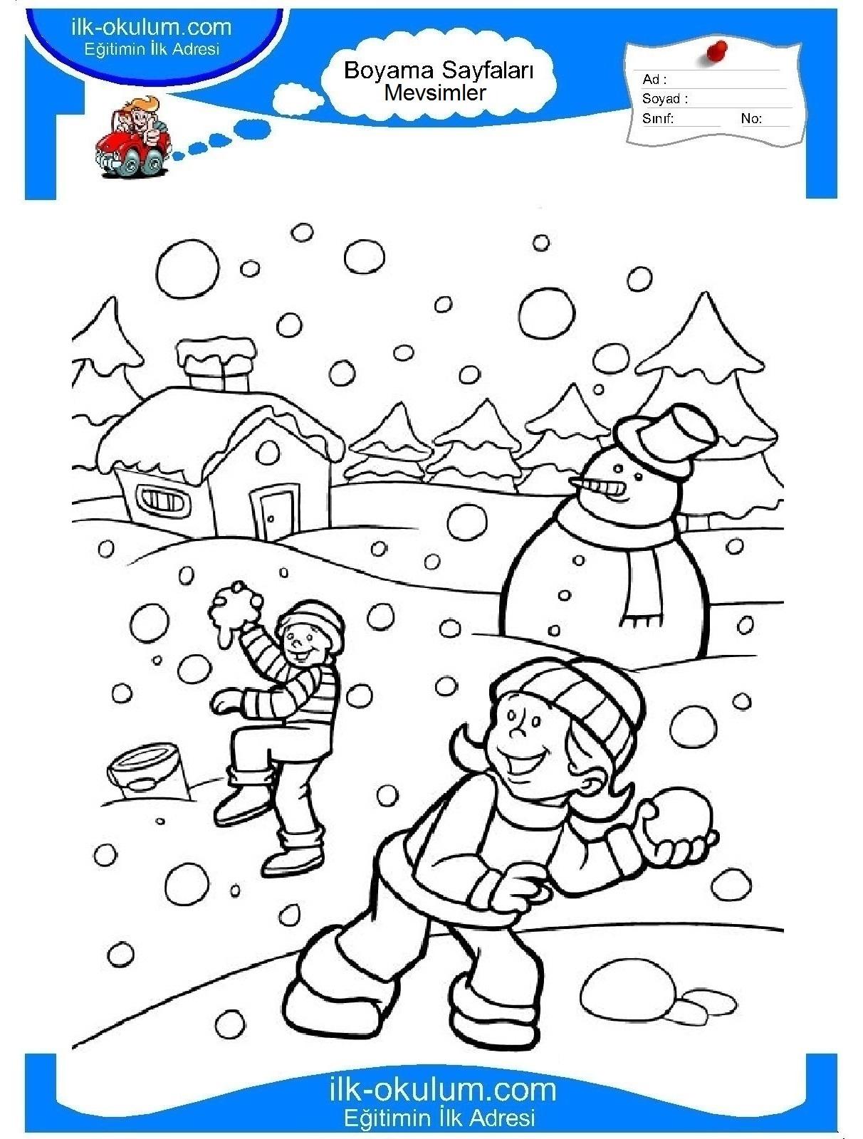 Красота зимы рисунок раскраска