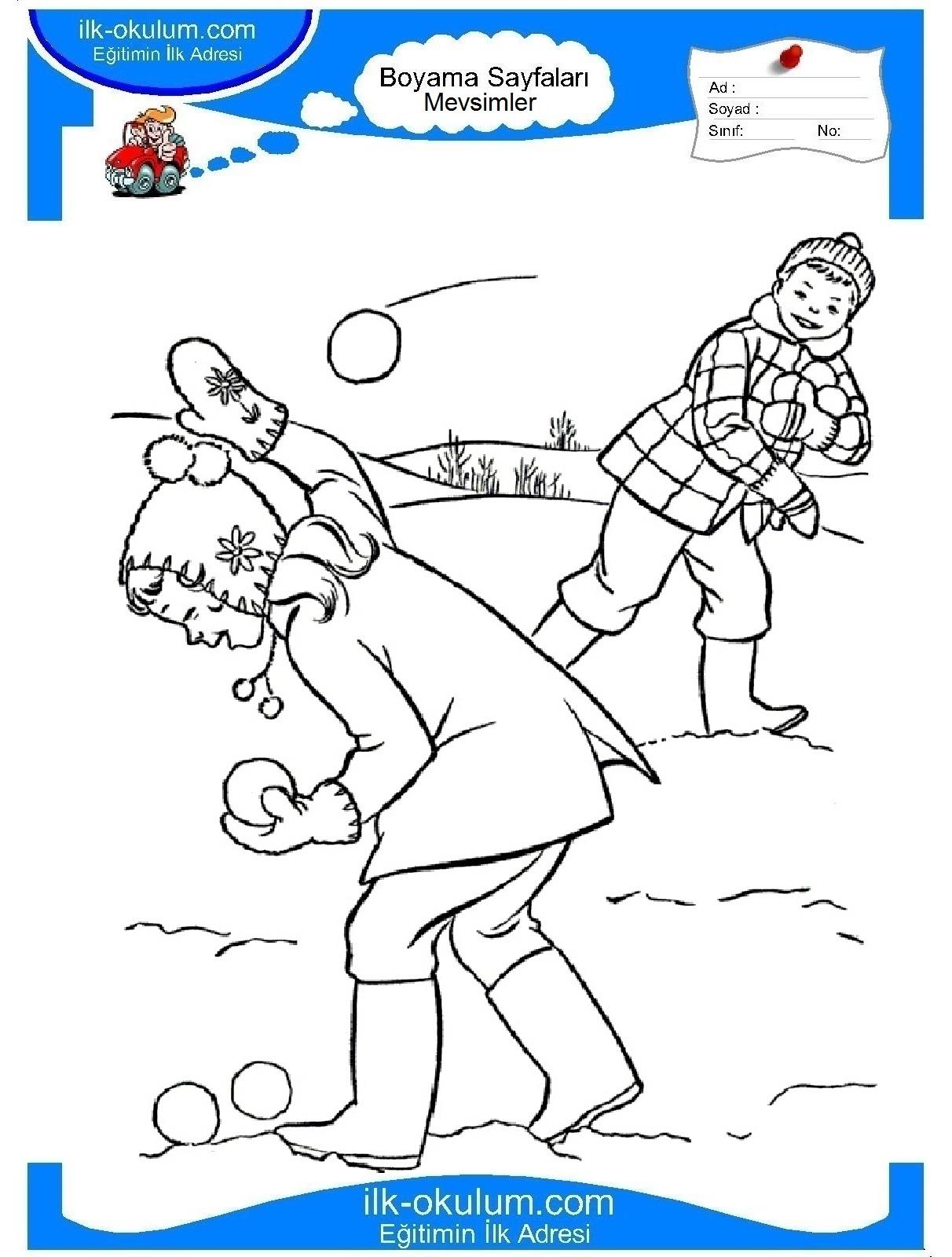 Зимние игры картинки распечатать 2